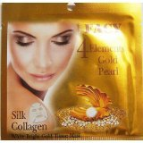 New! Facy 4 Elements Gold Pearl Silk Collagen White Bright Gold Tissue Mask X 5 Pieces