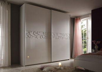 HCOMMEHOME Armario Adulto Design Lacado Blanca Infinity 2, 2 Puertas correderas Longitud 240 cm: Amazon.es: Juguetes y juegos