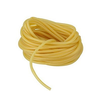 , 3x5mm Natural Latex Rubber Band Tube Tubing for Slingshot Catapult Elastic Parts Rocket Outdoor Hunting, Yellow (Latex Tubing)