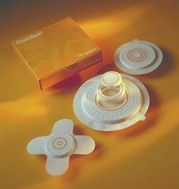"""Coloplast Comfeel Plus Pressure Relief Hydrocolloid Dressing 4"""" Round Shape, Sterile, Polyurethane Top Film, High Density Foam Backing, With Alignate (Box of 5 Each)"""