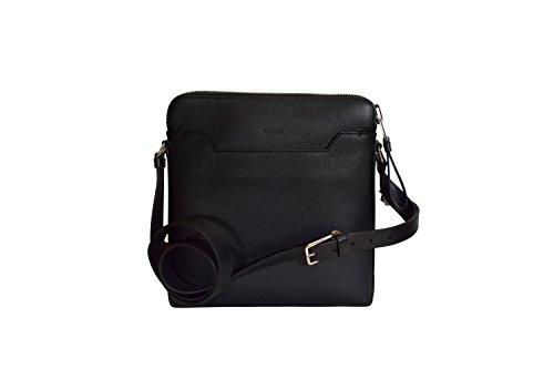 Tom Ford Men's Black Pebbled Leather Messenger Bag