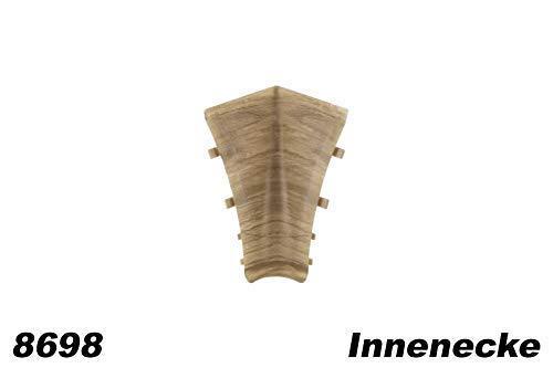 Kabelkanal Fu/ßleisten Sockel Innenecken f/ür PVC Sockelleisten Modell:0102 Modern