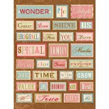 Amy Butler Grand Adhesions Embellishments, Words: Bailey