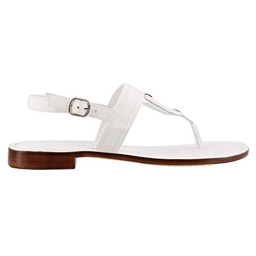 Bernardo Women's Tegan Flat Sandal, White Antique Calf, 6M M US
