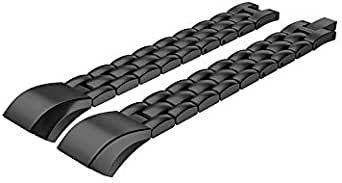 Stainless Steel Accessory Strap Metal Band Link Bracelet For Fitbit Alta & HR - Black