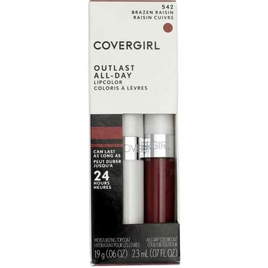 CoverGirl Outlast All Day Lipcolor, Brazen Raisin [542] 1 ea (Pack of 2)