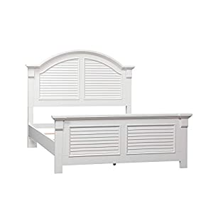 Liberty Furniture Industries Summer House I Queen Panel Bed, Oyster White