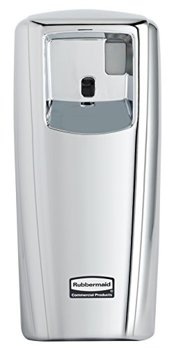 Controlling Care (Rubbermaid Commercial Products 1793536 Microburst Automated Odor-Controlling Aerosol Air Care System, MB9000 Dispenser, 9000 m, Chrome)