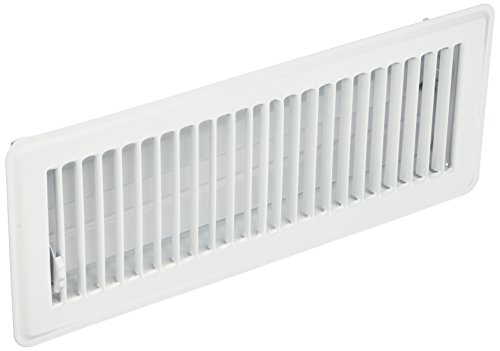 MINTCRAFT FR01-4X12W Floor Register White (White Floor Register)