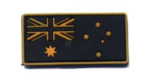 Australia Flag Military PVC Patch Rubber Badges Patch Tactical Stickers for Clothes Back with Hook (color3)