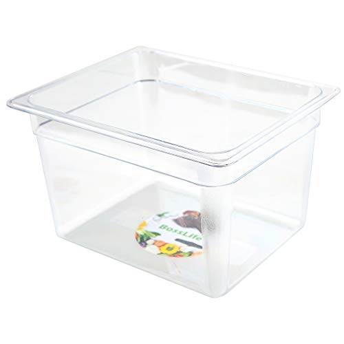 Sous Vide Container 12 Quart for Culinary Precision Cooker, Immersion Circulators, Clear Square Container, Plastics Space Saving Food Storage Container with Cleaning Cloth