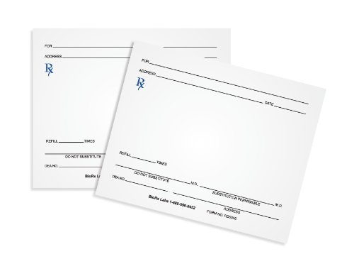 Prescription Pads (100 Sheets per Pad) [Pack of 10 Pads]