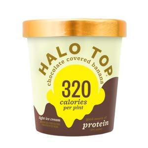 Halo Top, Chocolate Covered Banana Ice Cream, Pint (4 Count) (Best Halo Top Ice Cream)