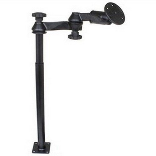 RAM MOUNTS (RAM-VP-SW1-1218-240 Double Swing Arm with 12'' Male Tele-Pole, 18'' Female Tele-Pole and 3.68'' Round Base