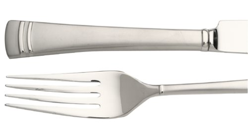 Lenox Unisex Federal Platinum Frosted 5 Piece Place Setting Stainless Flatware