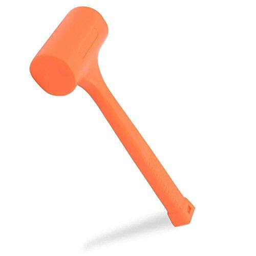 Domeiki 4LB Dead Blow Hammer Mallet 14-1/2 Length Neon Orange from Domeiki Home