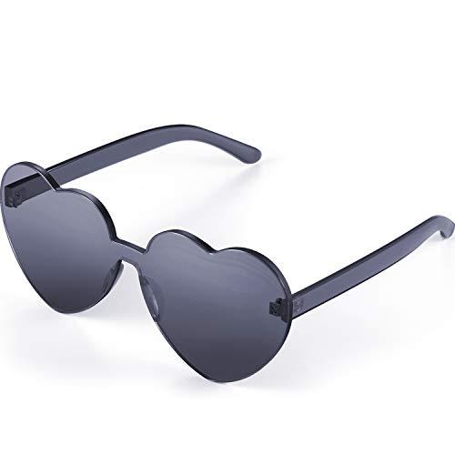 Maxdot Heart Shape Sunglasses Party Sunglasses (Transparent ()