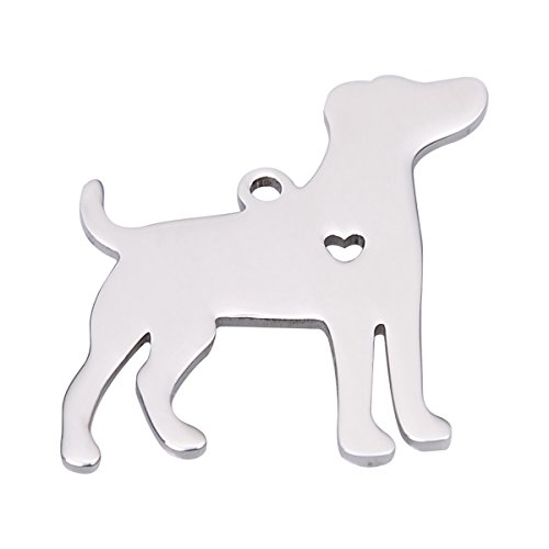 HooAMI Dog Pendant Jack Russell Terrier Charm Stainless Steel Dog Lover Gift