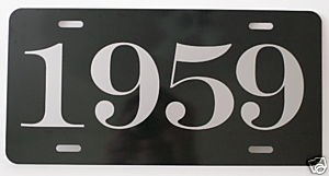 (Motown Automotive Design 1959 YEAR LICENSE PLATE )