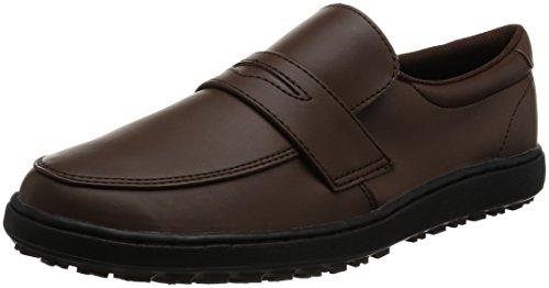 미도리안전 작업 신발 내 활성 로퍼 타입 하이 그립 H230 D 브라운/블랙