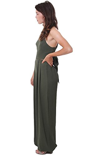 Jumpsuit Blush Green Back Olive Halter Jumpsuits Tied Green Blue HRx7qw100