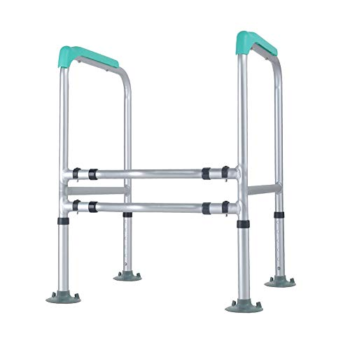 (Pebegain Bathroom Free Punching Toilet Handrail, Disabled, Elderly Safety Shatter-Resistant Toilet to get up The Booster, Toilet Large Sucker Anti-Rollover Auxiliary Railing)