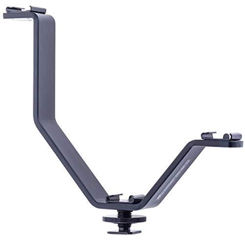 Flashpoint Triple Mount V-Bracket برای دوربین های DSLR چراغ ، مانیتور یا میکروفون