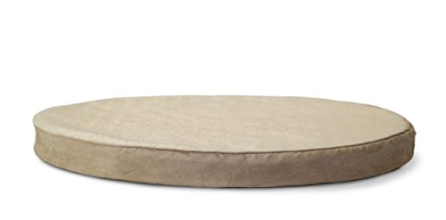 FurHaven Orthopedic Round Pet Bed for Dogs and Cats, Clay, Small
