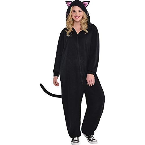 Zipster Black Cat One Piece Halloween Costume for Women, Plus Size, with Included Accessories, by -