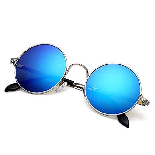 de sol Retro Vogue E Running para UV Redondas UV protección Aviador Gafas Hombre de Hipster Nuevas q5wnHT88Z