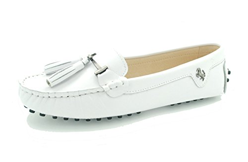Miyoopark - Ballet mujer Smooth Leather-White