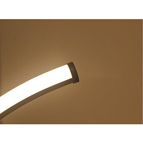 LOFAMI Art Creative Fashion Led Bedroom Bedside Lamp, Work Study Eye Lamp, Simple Modern Living Room Hotel Decoration Table Lamp (Color : Black White Light) by LOFAMI (Image #4)
