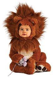 Toddler Girl Lion Costumes (Rubie's Costume Co Unisex-baby Infant Noah Ark Lion Cub Romper, Brown/Beige, 12-18 Months)