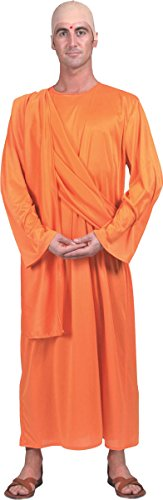 [Religious Fancy Dress Party Indian Pandit Hare Krishna Robe Complete Costume] (Fancy Dress Krishna Costume)