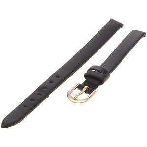 Timex Women's Q7B779 Calfskin 8mm Black Replacement Watchband