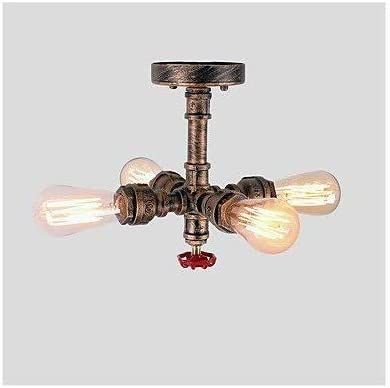 Ceiling Lamp Industrial Retro Steampunk Vintage Style Chandelier Ceiling Lamp Lamp Metal Tube Household Indoor Rural Living Room Restaurant Retro Lights