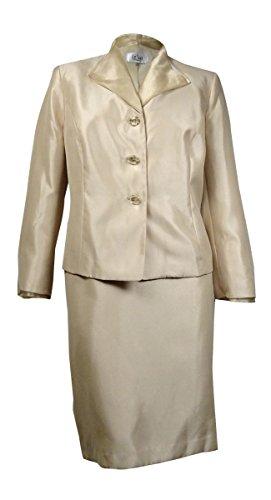Le-Suit-Womens-Quebec-Organza-Collar-Sheen-Slub-Skirt-Suit