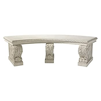 Design Toscano The Salentino Crescent Garden Bench, Ancient Ivory