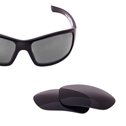 LenzFlip Lens Replacement for Revo BEARING Sunglass Frame - Gray Black Polarized - Revo Lens Replacement
