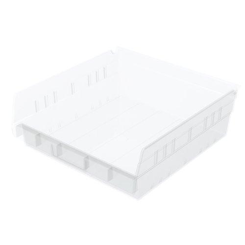 - Akro-Mils 30170 12-Inch by 11-Inch by 4-Inch Clear Plastic Nesting Shelf Bin Box, 12-Pack