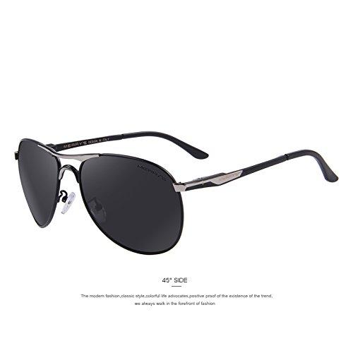 aluminio tonos Silver EMI lentes C02 polarizadas TIANLIANG04 Rojo sol de de revestimiento C03 hombres Guía de de clásicas gafas Defender Gafas qRHZ1REzw