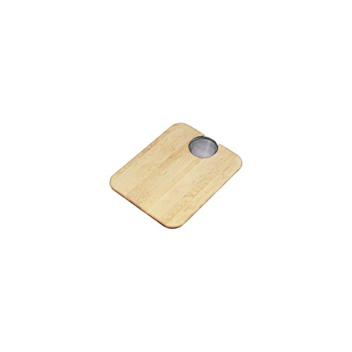 (Elkay CBS1418 Hardwood 19-Inch by 15-Inch Cutting Board with Strainer)