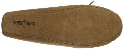 Minnetonka Sheepskin Softsole Moccasin - pantuflas de cuero hombre Beige (Tan)