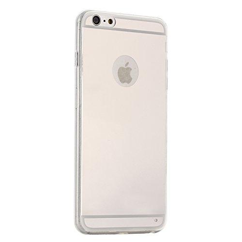 Phone Taschen & Schalen Ultradünner Spiegel TPU Schutzhülle für iPhone 6 Plus & 6S Plus ( Color : White )
