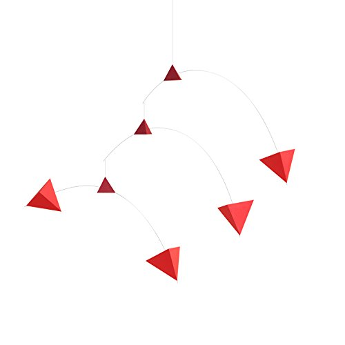 SMALL GOOD THINGS Polygon Mobile B type Red - Assembly Hanging Paper Mobile (Hanging Paper Mobile)