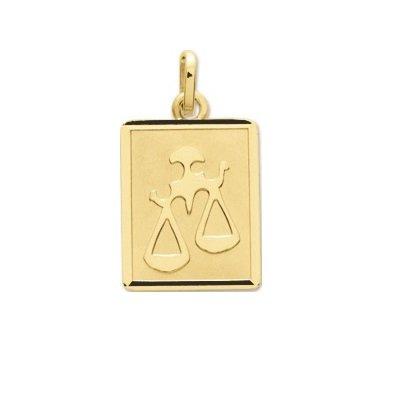 BALANCE - Médaille Zodiaque - Or 18 carat - Hauteur: 14 mm - Largeur: 12 mm - www.diamants-perles.com