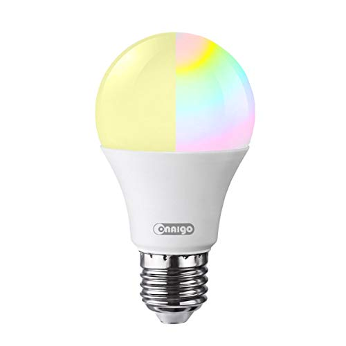 Onaigo White and Color Ambiance A19 65W Equivalent Dimmable Wi-Fi App Controlled Smart LED Light Bulb (Compatible with Amazon Alexa and Google Assistant)