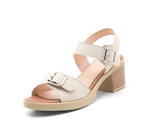 White Hebilla 36 White cabeza 6cm 34 Xie Redonda Del 34 Para confort 41 Sandalias Mujer Zapato OwFTIq76