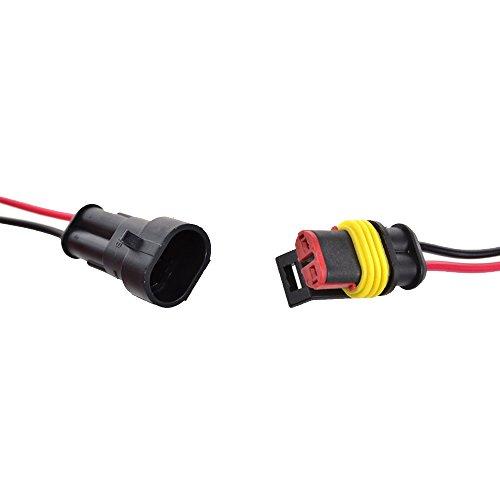 E Support/™ Connecteur Electrique Etanche Prise 6 Pin Kit avec Fil AWG pour Voiture Connecteur auto c?bler