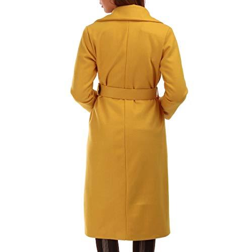 Modeuse Abrigo La Amarillo Para Mujer P5Swdq8q1x
